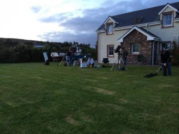 Setting Up at The Skellig Lodge Star Party